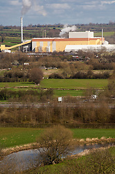 Industry in the countryside, Mountsorrel, Leicestershire, England, UK.
