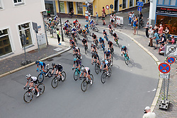 Peloton enter the final 9 km at Lotto Thuringen Ladies Tour 2018 - Stage 4, a 118 km road race starting and finishing in Gera, Germany on May 31, 2018. Photo by Sean Robinson/Velofocus.com