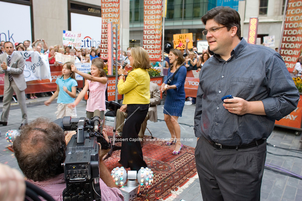 Today Show executive producer Jim Bell in the outdoor Today Show studio.   July 30, 2008.