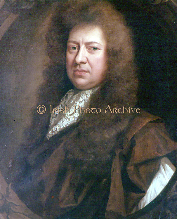 Samuel Pepys (1633-1703) English diarist and naval administrator. Became Secretary to the Admiralty.  Portrait by Godfrey Kneller.