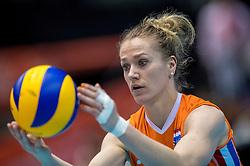 18-05-2016 JAP: OKT Nederland - Dominicaanse Republiek, Tokio<br /> Nederland is weer een stap dichterbij kwalificatie voor de Olympische Spelen. Dit dankzij een 3-0 overwinning op de Dominicaanse Republiek / Maret Balkestein-Grothues #6
