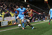 Sean Long and Connor Wood  during the EFL Sky Bet League 2 match between Bradford City and Cheltenham Town at the Utilita Energy Stadium, Bradford, England on 28 January 2020.