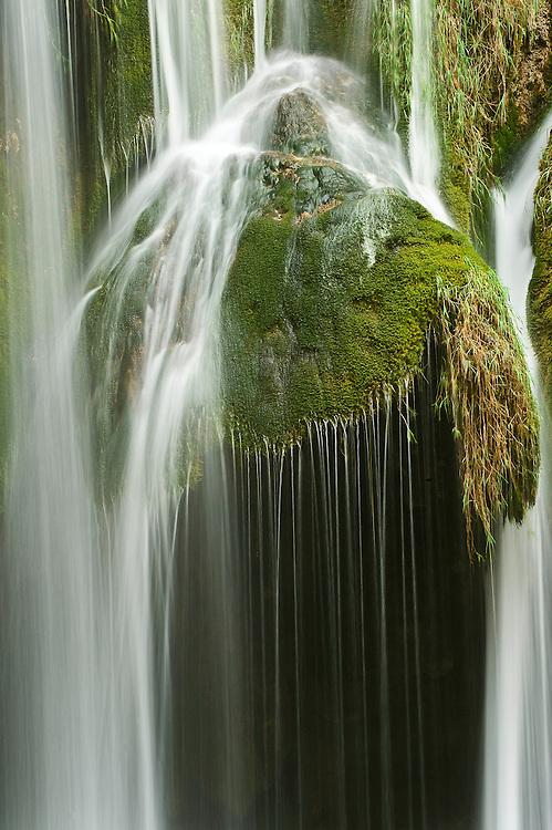 Galovac Buk waterfalls detail, Upper Lakes Plitvice National Park, Croatia