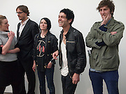 SUE WEBSTER; TIM NOBLE; HENRY HUDSON, Marc Quinn exhibition opening. Allanah, Buck, Catman, Michael, Pamela and Thomas. White Cube Hoxton Sq. London. 6 May 2010.  *** Local Caption *** -DO NOT ARCHIVE-© Copyright Photograph by Dafydd Jones. 248 Clapham Rd. London SW9 0PZ. Tel 0207 820 0771. www.dafjones.com.<br /> SUE WEBSTER; TIM NOBLE; HENRY HUDSON, Marc Quinn exhibition opening. Allanah, Buck, Catman, Michael, Pamela and Thomas. White Cube Hoxton Sq. London. 6 May 2010.