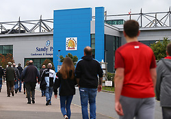 A general view as fans arrive at Sandy Park - Mandatory by-line: Gary Day/JMP - 24/09/2017 - RUGBY - Sandy Park Stadium - Exeter, England - Exeter Chiefs v Wasps - Aviva Premiership