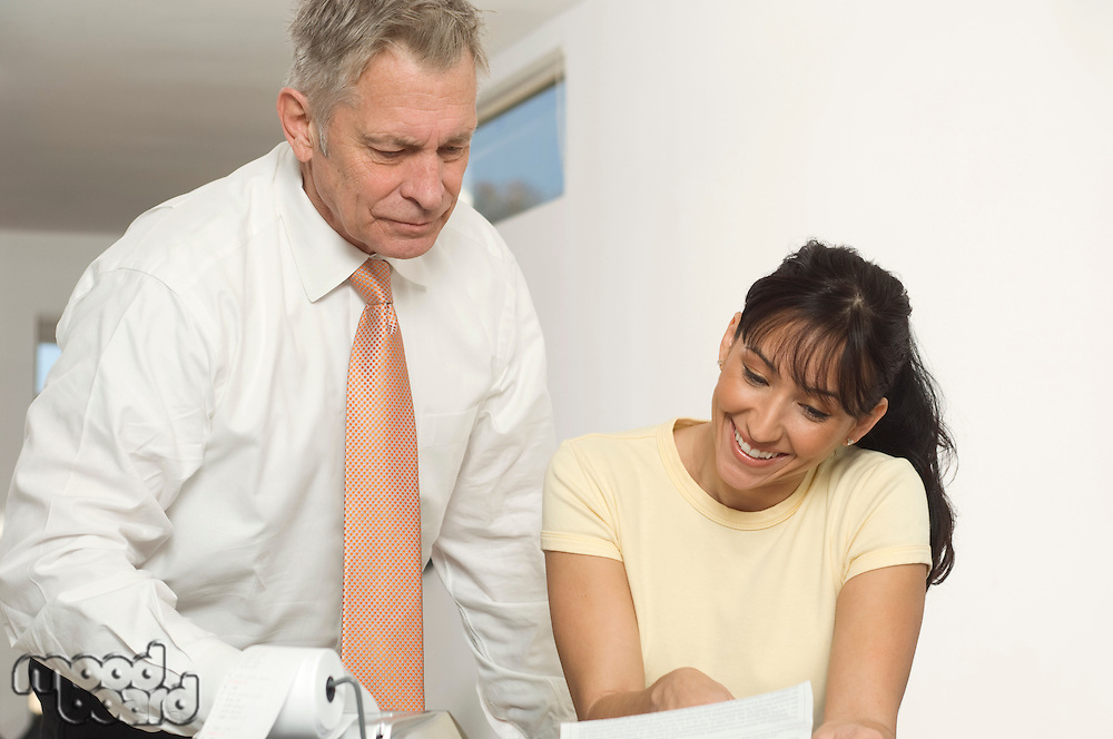 Accountant Working with Woman