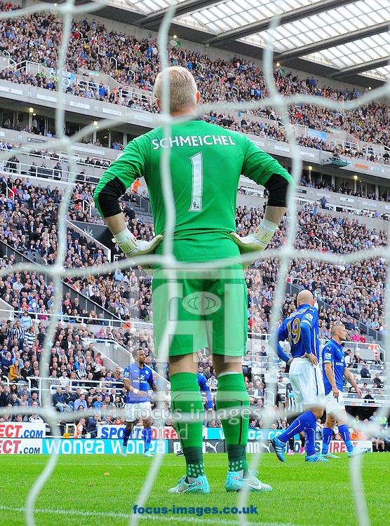 Leicester City goalkeeper Kasper Schmeichel during the Barclays Premier League match at St. James's Park, Newcastle<br /> Picture by Greg Kwasnik/Focus Images Ltd +44 7902 021456<br /> 18/10/2014