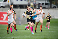Lindenwood University takes on Clemnson University at Red Bull Uni 7s Rugby Qualifiers at Infinity Park in Glendale, CO, USA, on 25 August, 2016.