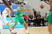 Kevin Lisch #11 of Australia passes the ball during the Australia v Philippines, 1st Round, Group B, Asian Qualifier at the Margaret Court Arena, Melbourne, Australia on 22 February 2018. Picture by Martin Keep.