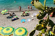 ITALY, Liguria, Camogli.relaxing on the beach