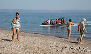 Refugees arrive on Lesbos, 13.08.15