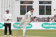 Colin Ackemann bowling during the Specsavers County Champ Div 2 match between Leicestershire County Cricket Club and Durham County Cricket Club at the Fischer County Ground, Grace Road, Leicester, United Kingdom on 9 July 2019.