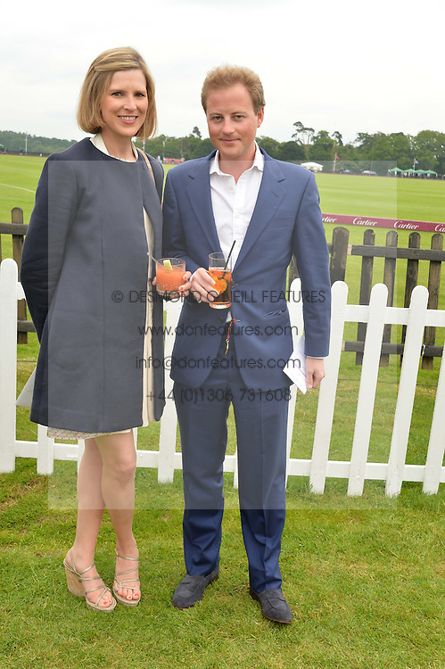GUY & LIZZY PELLY at the Cartier Queen's Cup Polo final at Guard's Polo Club, Smiths Lawn, Windsor Great Park, Egham, Surrey on 14th June 2015