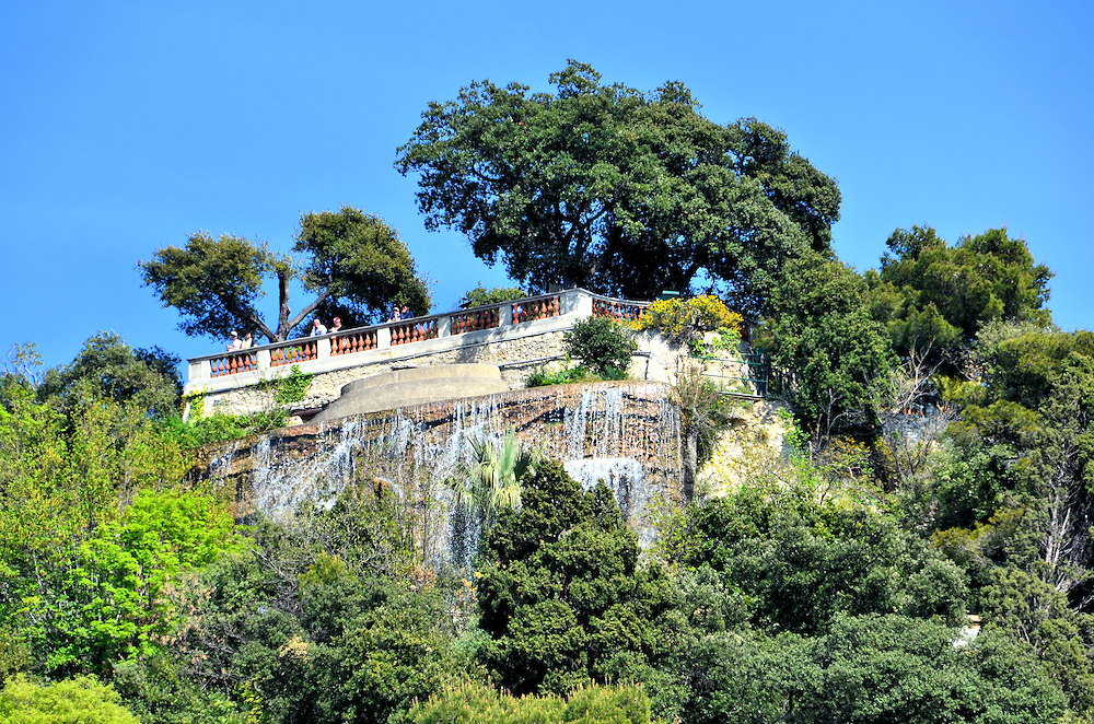 Cascade Donjon in Parc du Chateau in Nice, France <br />