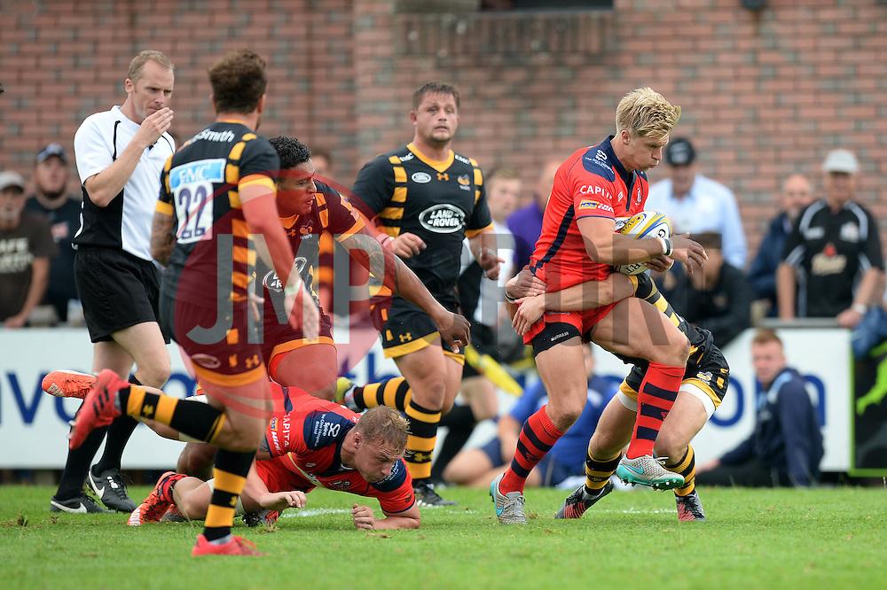 Charlie Amesbury charges forward - Mandatory by-line: Dougie Allward/JMP - 27/08/2016 - RUGBY - Clifton RFC - Bristol, England - Bristol Rugby v Wasps - Pre-season friendly