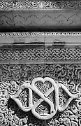 Detail of carving on premises of Friday Mosque on Male. 2009
