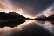 Loch Clair at dusk, Wester Ross, Scotland