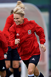 NEWPORT, WALES - Tuesday, August 28, 2018: Wales' Jessica Fishlock during a training session at Dragon Park ahead of the final FIFA Women's World Cup 2019 Qualifying Round Group 1 match against England. (Pic by David Rawcliffe/Propaganda)