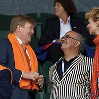 DEN HAAG - Rabobank Hockey World Cup<br /> 38 Final: Australia - Netherlands<br /> Foto: Koning Willem-Alexander en Johan Wakkie.<br /> COPYRIGHT FRANK UIJLENBROEK FFU PRESS AGENCY