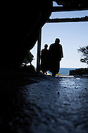 Inside the Mikurodo Cave the Buddhist monk Kobo Daishi had an enlightenment experience. From the cave he could only see the sky and the ocean, (Ku = Sky and Kai = Ocean). He took the name Kukai.<br /> <br /> Photographer: Christina Sj&ouml;gren<br /> Copyright 2018, All Rights Reserved