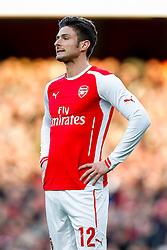 Olivier Giroud of Arsenal looks on - Photo mandatory by-line: Rogan Thomson/JMP - 07966 386802 - 15/02/2015 - SPORT - FOOTBALL - London, England - Emirates Stadium - Arsenal v Middlesbrough - FA Cup Fifth Round Proper.