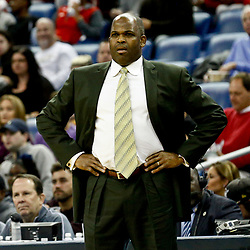 Dec 15, 2016; New Orleans, LA, USA; Indiana Pacers head coach Nate McMillan against the New Orleans Pelicans during the first quarter of a game at the Smoothie King Center. Mandatory Credit: Derick E. Hingle-USA TODAY Sports