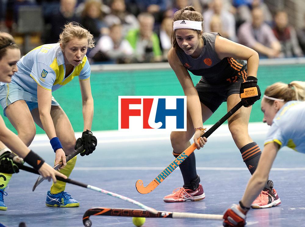 BERLIN - Indoor Hockey World Cup<br /> SF1 Netherlands - Ukraine<br /> foto: Noor de Baat  <br /> WORLDSPORTPICS COPYRIGHT FRANK UIJLENBROEK