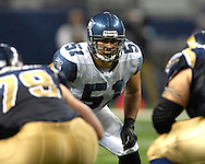 Seattle linebacker Lofa Tatupu (51) during action at the Edward Jones Dome in St. Louis, Missouri, October 15, 2006.  The Seahawks beat the Rams 30-28.<br />