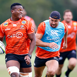 Phendulani Buthelezi of the Cell C Sharks during the Cell C Sharks training session from theBox Hill Rugby Union Football Club  RHL Sparks Reserve, Canterbury Rd & Middleborough Road, Box Hill VIC 3128. Melbourne,Australia 20 February 2020. (Photo Steve Haag Sports -Hollywoodbets)