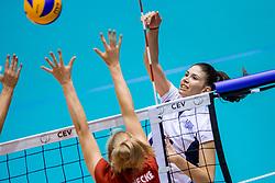 27-08-2017 NED: World Qualifications Greece - Belgium, Rotterdam<br /> Belgi&euml; verslaat Griekenland met 3-0 / Alexia Kalantaridou #15 of Greece