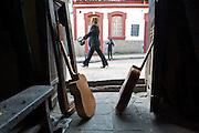 Inside the shop of Enrique, the Guitar Artisan of Bogota - Calle de los Mandolinas - Bogota - Colombia