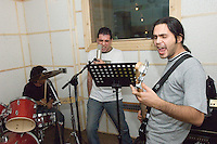 Rock Band.Tehnran, IRAN. September 24, 2007- A rock band in rehearsing for their new music video