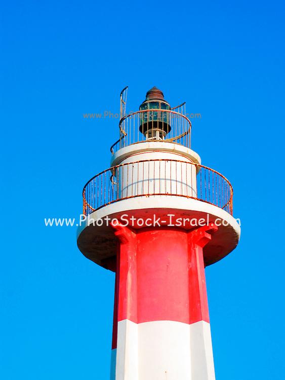 Israel, Tel Aviv, Light house at the old Jaffa port