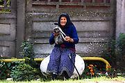 Romania, Transylvania, local mature peasant woman