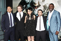 Charlie Hunnam; Robert Kazinsky; Rinko Kikuchi; Charlie Day; Idris Elba, Pacific Rim European Film Premiere, BFI IMAX Waterloo, London UK, 04 July 2013, (Photo by Richard Goldschmidt)