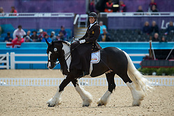 Minneci Barbara (BEL) - Barilla<br /> Team Test - Grade II - Dressage <br /> London 2012 Paralympic Games<br /> © Hippo Foto - Jon Stroud