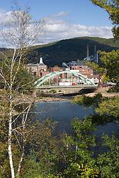 Rumford and the Androscoggin River Maine USA