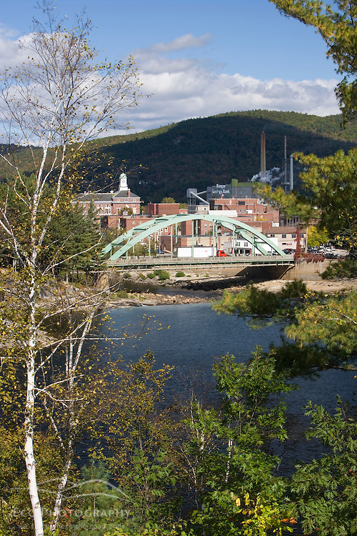Rumford and the Androscoggin River Maine USA