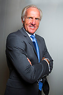 Greg Norman  2014<br /> feature portrait at home in Florida USA<br /> Picture Credit:  Mark Newcombe / www.visionsingolf.com