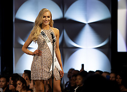December 6, 2019, Atlanta, Georgia, USA: Anni Harjunp , 23, introduces herself as preliminary duding for the 2019 Miss Universe pageant begins. She hadnt entered any beauty pageants  until this year, when she was crowned Miss Finland. (Credit Image: © Robin Rayne/ZUMA Wire)