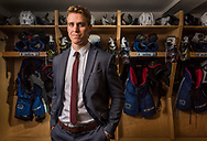 Mike Zalewski, Utica Comets left wing, stands for a portrait November 29, 2016.