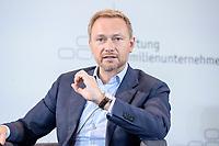 28 JUN 2019, BERLIN/GERMANY:<br /> Christian Lindner, FDP Bundesvorsitzender, waehrend einer Diskussion, Tag des Deutschen Familienunternehmens, Hotel Adlon<br /> IMAGE: 20190628-01-196