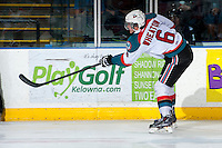 KELOWNA, CANADA - APRIL 3: Mitchell Wheaton #6 of the Kelowna Rockets makes a pass against the Seattle Thunderbirds on April 3, 2014 during Game 1 of the second round of WHL Playoffs at Prospera Place in Kelowna, British Columbia, Canada.   (Photo by Marissa Baecker/Getty Images)  *** Local Caption *** Mitchell Wheaton;