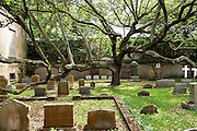 The cemetery for Charleston born members of the Saint Philips Episcopal Church along Church Street in historic Charleston, SC.