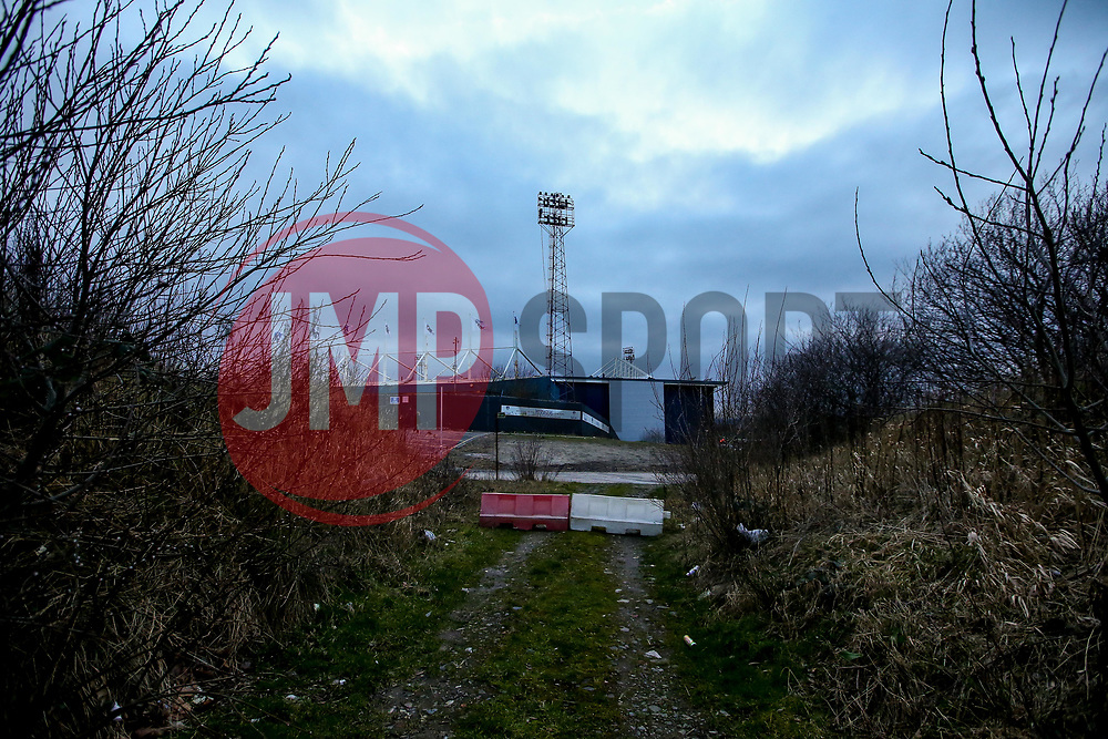 A general view of Boundary Park, home of Oldham Athletic - Mandatory by-line: Robbie Stephenson/JMP - 19/02/2019 - FOOTBALL - Boundary Park - Oldham, England - Oldham Athletic v Morecambe - Sky Bet League Two