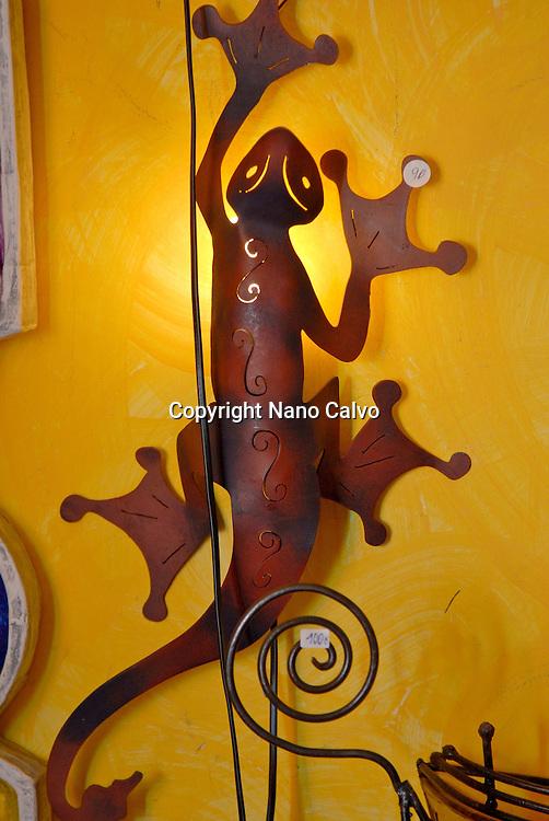 Design original lamps in Aigua shop, Ibiza, Spain