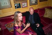 SABRINA GUINNESS; BRIAN ENO, BRIONI FRAGRANCE LAUNCH. Annabels. Berkeley Sq. London. 14 October 2009.