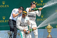 PODIUM - HAMILTON lewis (gbr) mercedes gp mgp w06 ambiance portrait<br /> ROSBERG nico (ger) mercedes gp mgp w06 ambiance portrait during the 2015 Formula One World Championship, Grand Prix of England from july 2 to 5th 2015,  in Silverstone, Great Britain. Photo Eric Vargiolu / DPPI