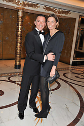 FRANKIE DETTORI and his wife CATHERINE at the 21st Cartier Racing Awards held at The Dorchester, Park Lane, London on 15th November 2011.