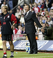 Fotball<br /> England 2004/05<br /> Southampton v Newcastle<br /> Greame Souness sees his team win 2-1<br /> Photo Sean Ryan / Fotosports International<br /> NORWAY ONLY